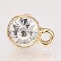 Light Gold Clear Alloy+Rhinestone Stud Earrings(X-PALLOY-R100-13A-NF)