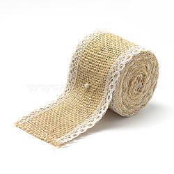 rubans de chanvre avec des rubans de coton, pour la fabrication de bijoux, tan, 2 (50 mm); à propos de 2.187 yards / rouleau (2 m / roll)(X-OCOR-R071-14)