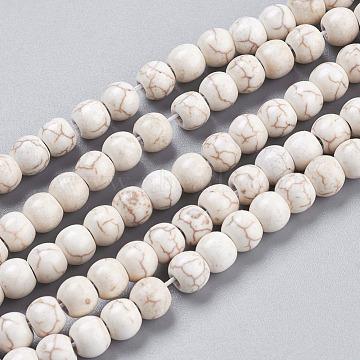 6mm White Round Howlite Beads