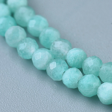 Natural Amazonite Beaded Necklaces(NJEW-K114-A-A07)-2