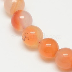 Natural Carnelian Beads Strands, Round, Grade A, 8mm, Hole: 1mm; about 45pcs/strand, 16 inches
