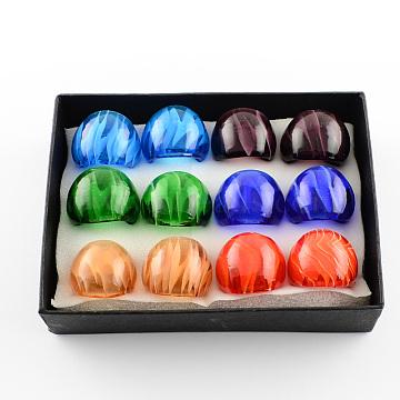 Mixed Color Lampwork Finger Rings