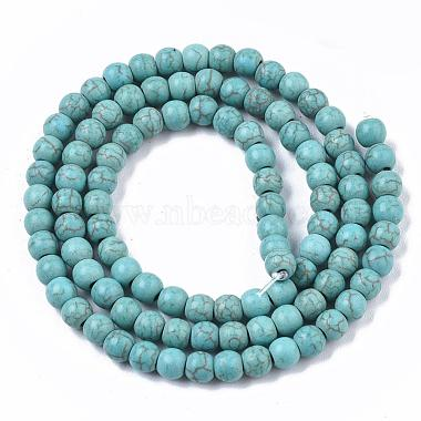 Synthetic Turquoise Beads Strands(X-TURQ-S192-4mm-2)-2