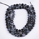 Natural Snowflake Obsidian Beads Strands(G-S354-38)-2