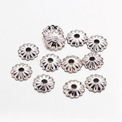 Платина железа цветок крышки шарика 5x1.5 мм, Отверстие : 1 мм ; около 330 шт / 10 г(X-IFIN-D023-P)