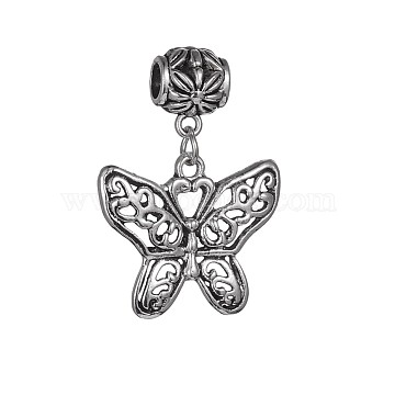 39mm Butterfly Alloy Dangle Beads