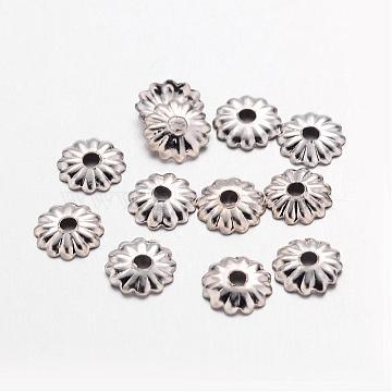 Platinum Iron Bead Caps