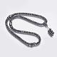 Non-magnetic Synthetic Hematite Mala Beads Necklaces(NJEW-K096-11C)-1