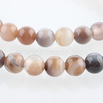 6mm Round Botswana Agate Beads