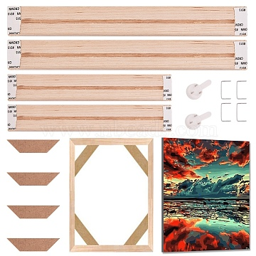 Pine Wood Painting Frame, For Arts and Crafts DIY Painting Projects, BurlyWood, 45x20cm(DIY-WH0158-34E)