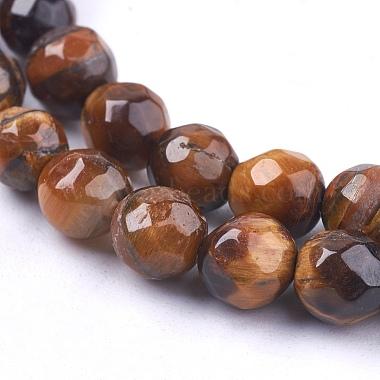 Natural Tiger Eye Round Bead Strands(X-G-R203-6mm)-3