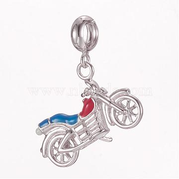 21mm Colorful Vehicle Sterling Silver Dangle Beads