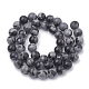 Synthetic Snowflake Obsidian Beads Strands(G-R342-6mm-21)-2