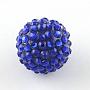 12mm Blue Round Resin+Rhinestone Beads(RESI-S314-10x12-13)