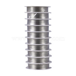 Copper Jewelry Wire, Silver Color Plated, 24 Gauge, 0.5mm; 8m/roll, 10rolls/group(CWIR-S002-0.5mm-01)
