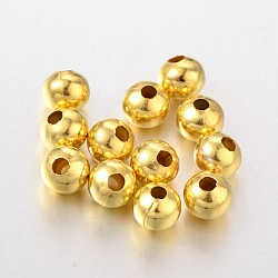 Iron Beads, Golden, 8mm, hole: 2.5~3mm(E188Y-G)