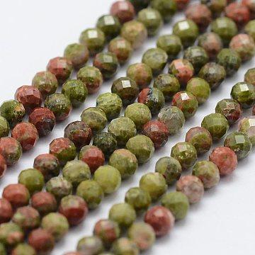 2mm Round Unakite Beads