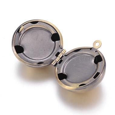 Brass Locket Ball Pendants(X-KK-M041-06AB-NF)-2