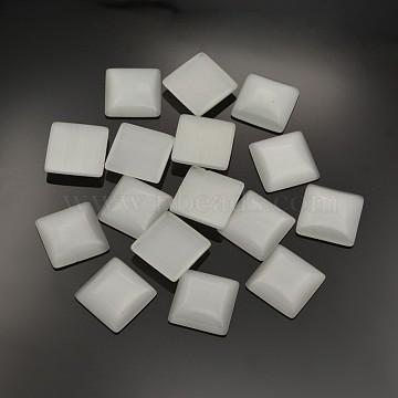 25mm Gainsboro Square Glass Cabochons