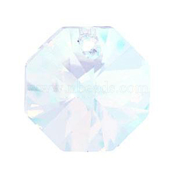 Austrian Crystal Pendants, 6401, Crystal AB Color, Octagon, Size: about 12mm wide, 12mm long(X-6401-12MM-001AB)