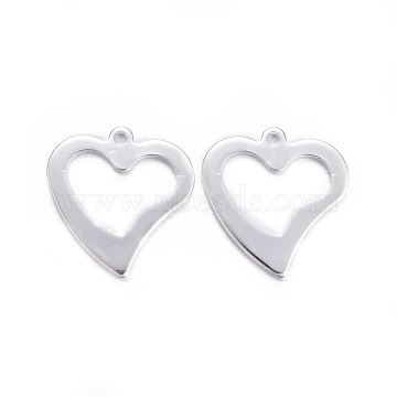 Silver Heart Stainless Steel Charms