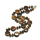 Natural Tiger Eye Beaded Necklaces(NJEW-S393-14)-1