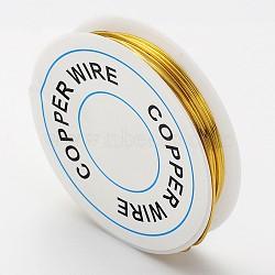 fil de bijoux de cuivre, or, Jauge 18, 1 mm; 2.5 m / rouleau(X-CW1mm007)