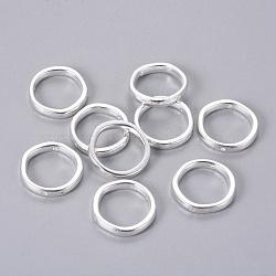 style tibétain cadres anneau de perles, plaqué argent, sans plomb et sans cadmium et sans nickel; 19x4 mm, trou: 1 mm(X-EA13622Y-NFS)