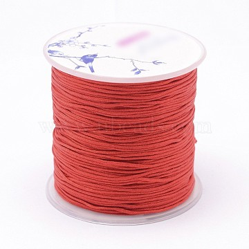 Nylon Threads, Red, 1.2mm; about 76.55yards/roll(70m/roll)(NWIR-N004-03A-1.2MM)