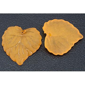 16mm Orange Leaf Acrylic Pendants