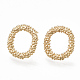 Brass Stud Earrings(X-KK-S348-366)-1