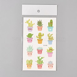 Removable Fake Temporary Water Proof Cartoon Tattoos Paper Stickers, Plant, Colorful, 120~121.5x75mm(AJEW-WH0061-C01)