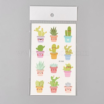 Colorful Vegetables Paper Tattoo Stickers