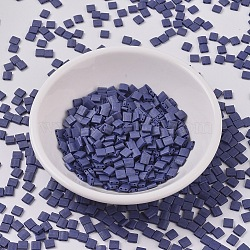 perles de tila miyuki®, perles de rocaille japonais, 2-trou, (tl 2075) lustre cobalt opaque mat, 5x5x1.9 mm, trou: 0.8 mm; sur 118 pcs / bouteille, 10 g / bouteille(SEED-JP0008-TL2075)