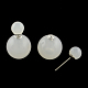 Acrylic Imitate Jelly Double Faced Ball Stud Earrings(X-EJEW-R104-03I)-1