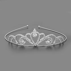 модные свадебные короны, свадебные диадемы, с основанием из железа и латуни, кристалл, 115 mm(OHAR-S194-06)