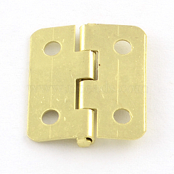 Wooden Box Accessories Metal Hinge, Golden, 19x16x2mm, Hole: 2mm(X-IFIN-R203-56G)