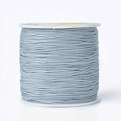 Round String Thread Polyester Fibre Cords, LightSteelBlue, 0.8mm, about 100m/roll(OCOR-J003-42)