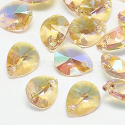 Drop Glass Charms(RGLA-T077-8x10-223PS)