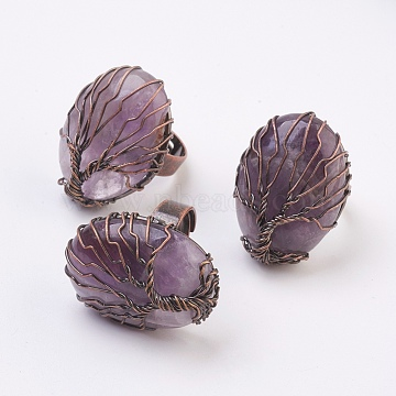 Amethyst Finger Rings