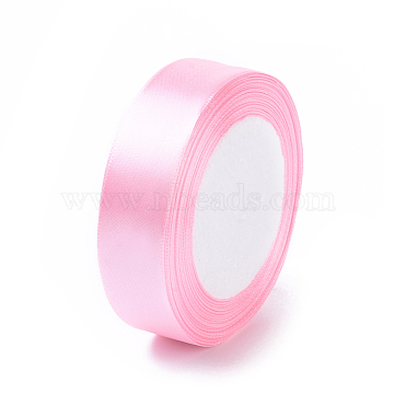 Breast Cancer Pink Awareness Ribbon Making Materials Light Pink Satin Ribbon Wedding Sewing DIY, about 1 inches(25mm) wide, 25yards/roll(22.86m/roll)(X-RC25mmY004)