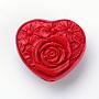 40mm Rouge Coeur Cinabre Perles(X-CARL-S004-05)