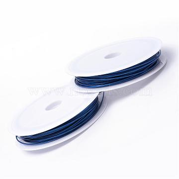 Tiger Tail Wire, Nylon-coated Steel, Medium Blue, 1.0mm, about 26.24 Feet(8m)/roll, 10 rolls/group(TWIR-R005-1.0mm-02)