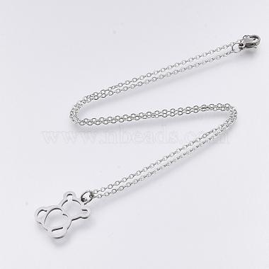 201 Stainless Steel Pendant Necklaces(NJEW-T009-JN127-40-1)-2