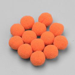 Artisanat de poupée bricolage, boule de pom pom de polyester, rond, orange foncé, 23~24mm(AJEW-T001-25mm-39)