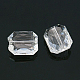 Faceted Rectangle Transparent Clear Acrylic Beads(X-TACR-524-01)-1