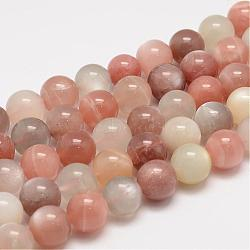 Natural Sunstone Beads Strands, Round, Mixed Color, 12mm, Hole: 1mm; about 33pcs/strand