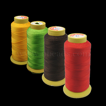 Nylon Sewing Thread, 6-Ply, Spool Cord, Mixed Color, 0.43mm, 500yards/roll(RCOR-N3-M-1)