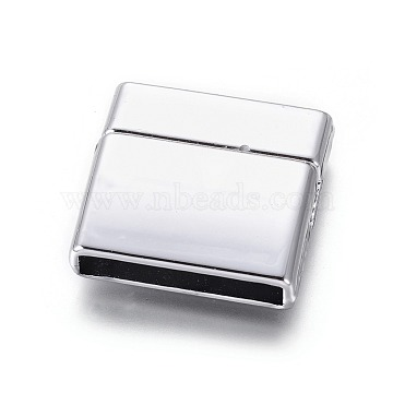 Platinum Rectangle Alloy Clasps