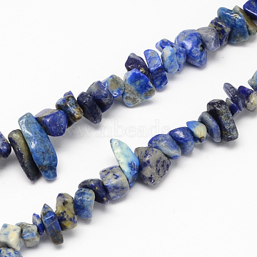 Natural Lapis Lazuli Stone Bead Strands, Chip, 4~10x4~6x2~4mm, Hole: 1mm; about 320pcs/strand, 35.4 inches(X-G-R192-13)